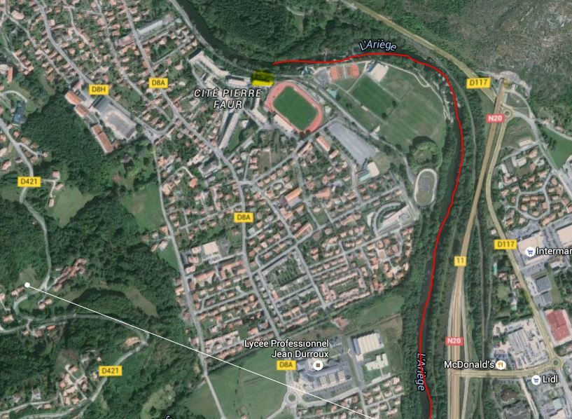 Parcours du stade à Foix, qui offre de belles surprises avec quelques belles truites