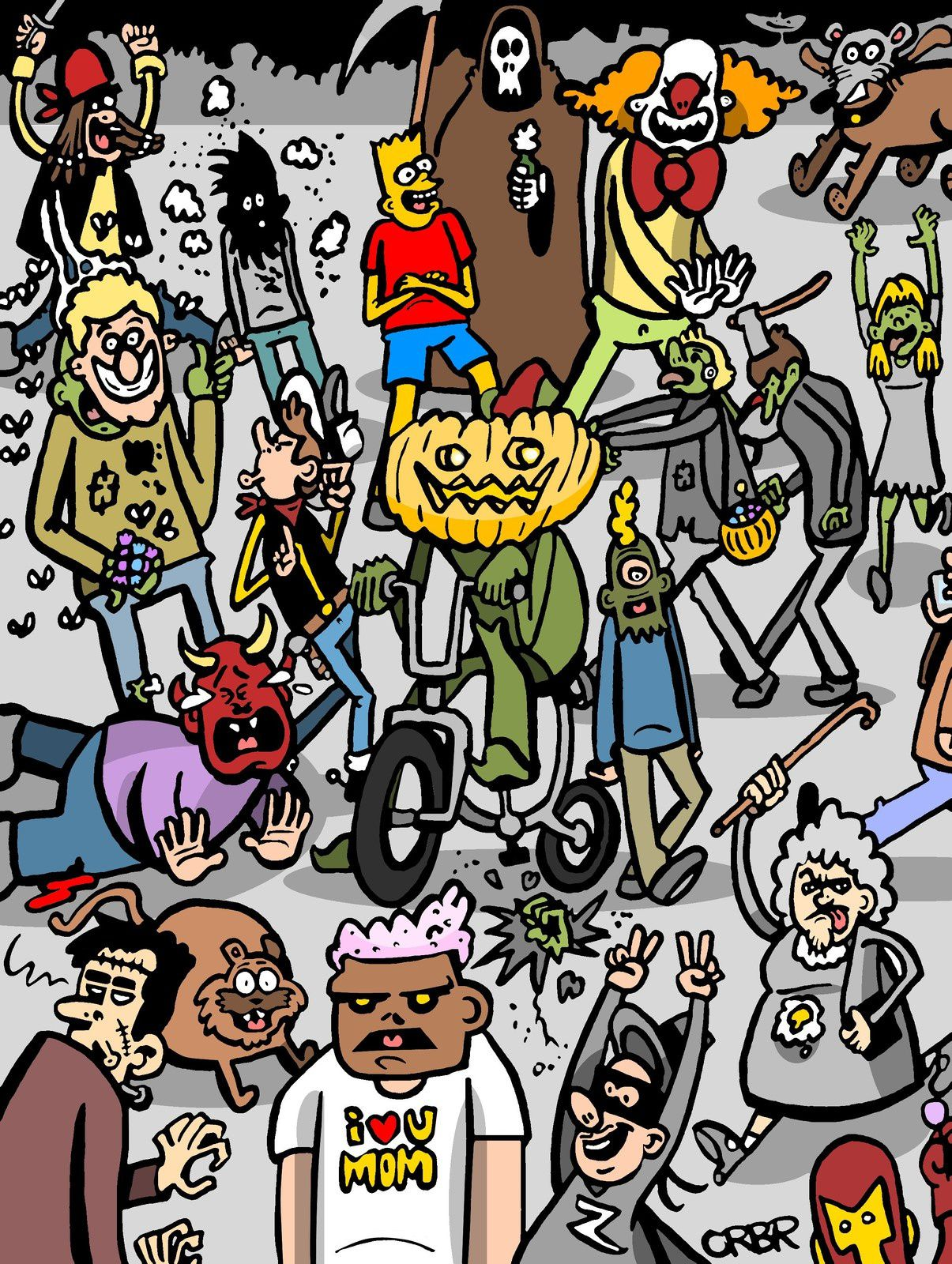 Illustration pour Halloween.