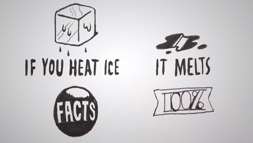 If you heat ice, it melts...(0 conditional)