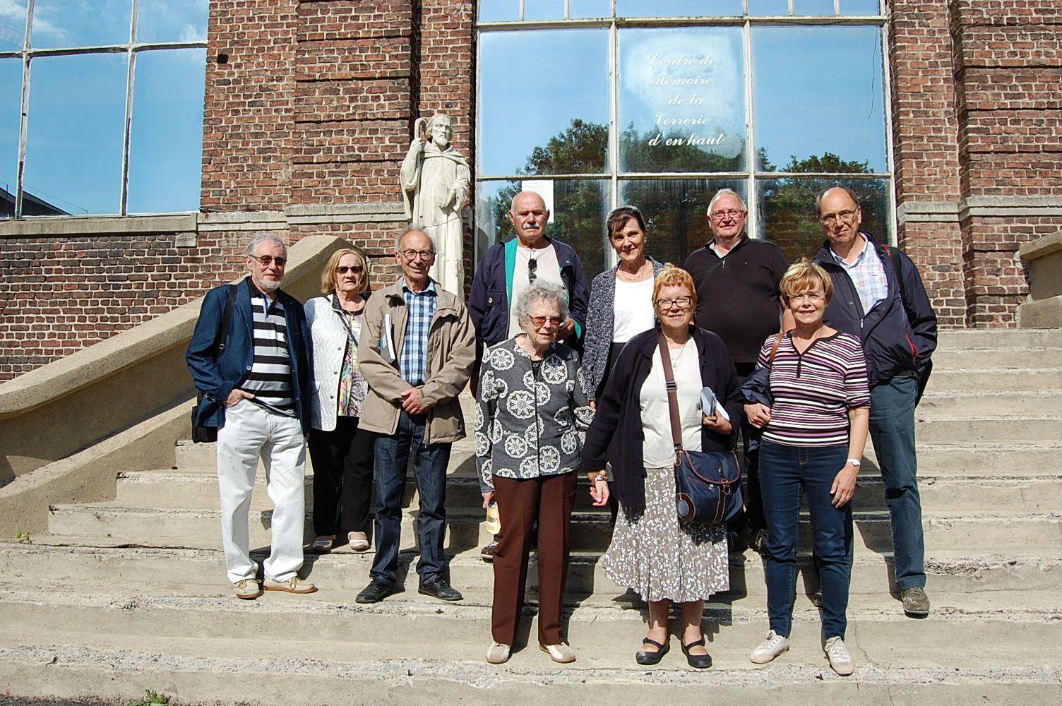 Des membres de l'Association Les Amis du Centre Historique Minier en visite le 8 Juin dernier