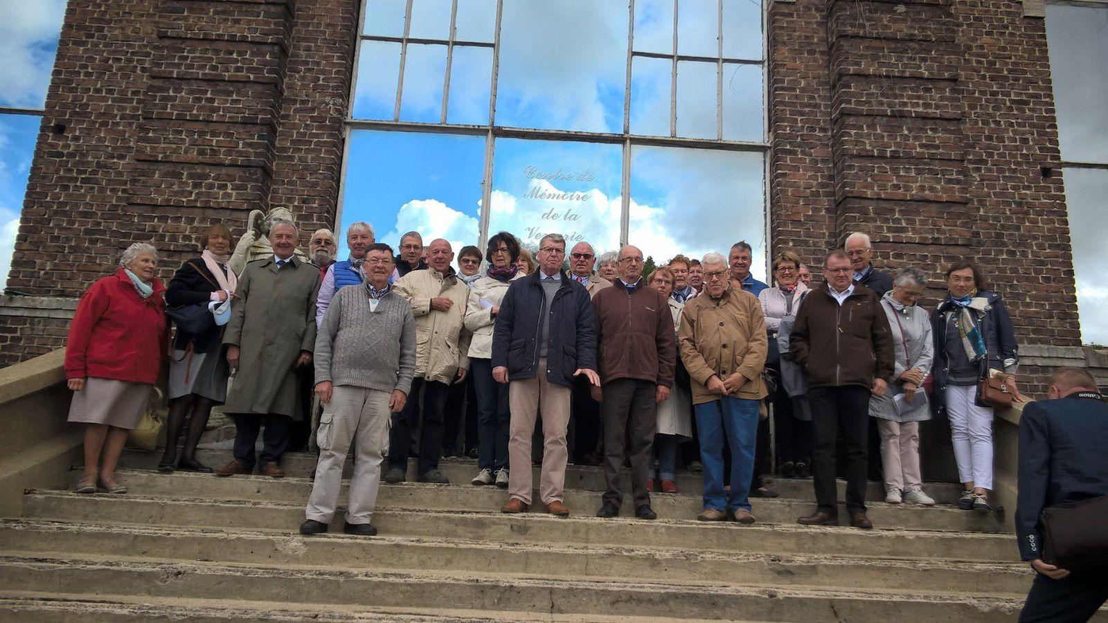 """Mr Lescroart était venu en """"repérage"""" il y a quelques mois et à organiser cette visite fort sympathique de ce jour. Cette Association à environ 400 adhérents"""