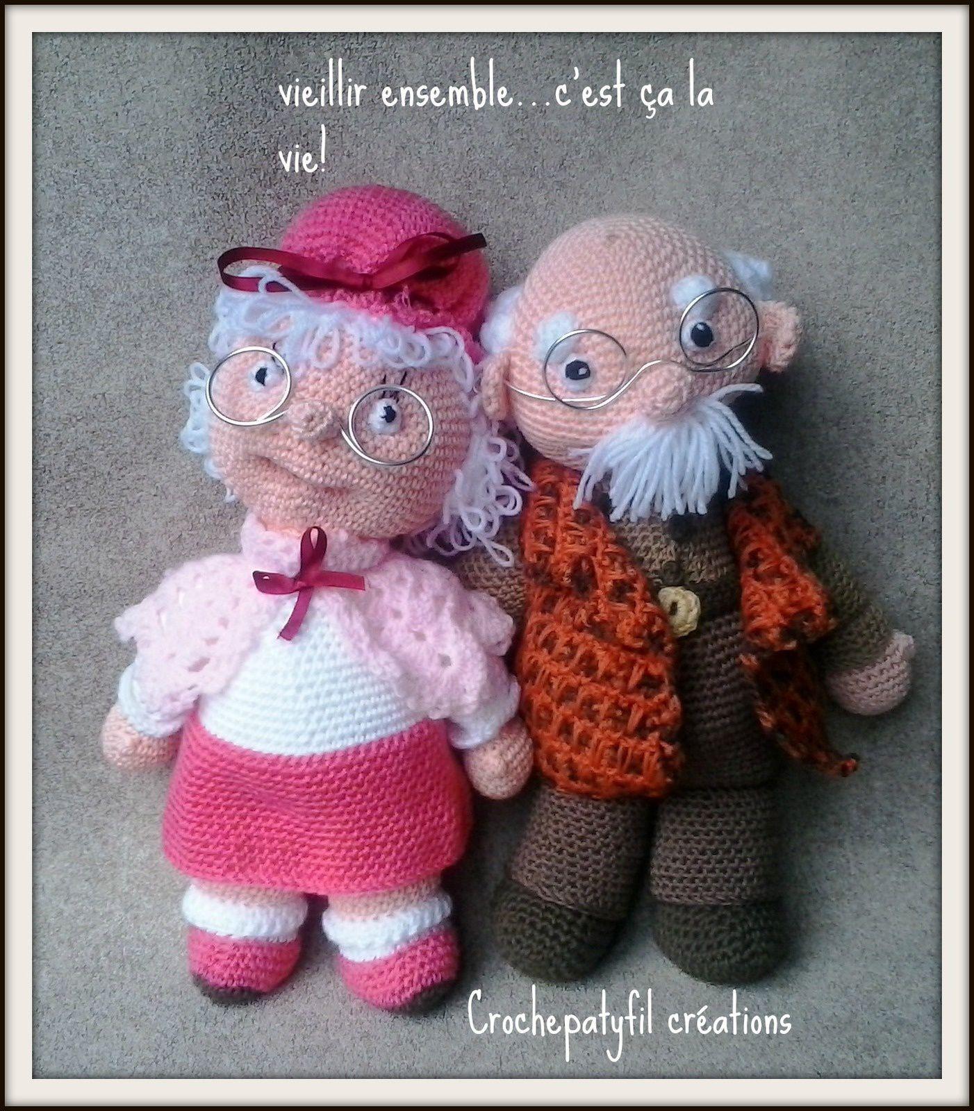 les vieux mariés au crochet
