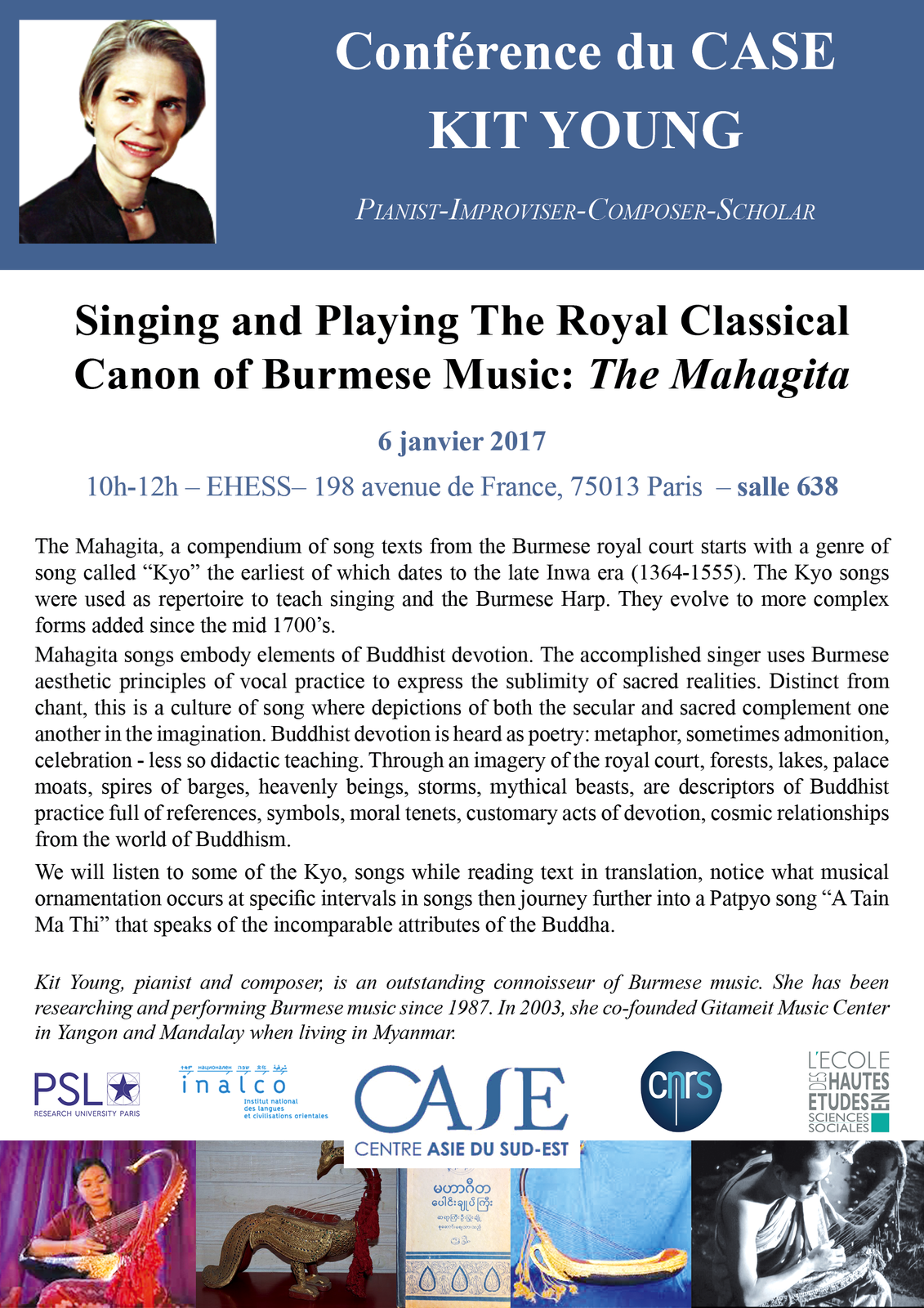 Singing and Playing The Royal Classical Canon of Burmese Music: The Mahagita