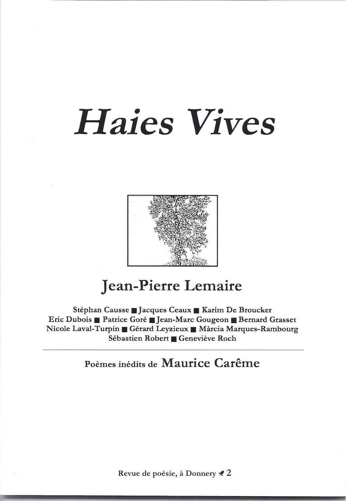Haies Vives n°2 - Septembre 2014 | DR