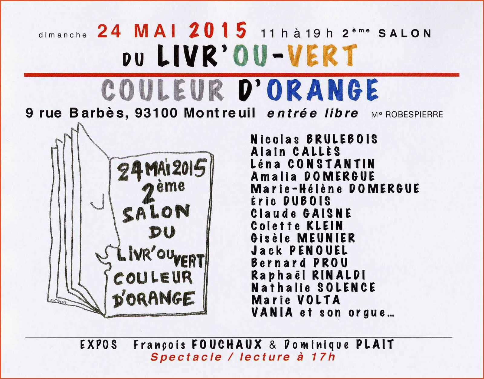 2 ème Salon Liv'ouver Couleur d'orange 2015- DR