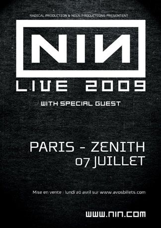 NINE INCH NAILS - Zénith 2009