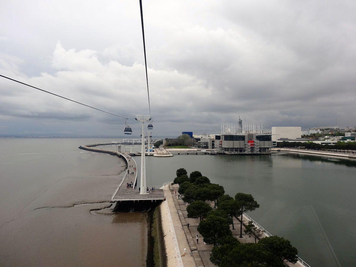 L'Oceanário vu du téléphérique