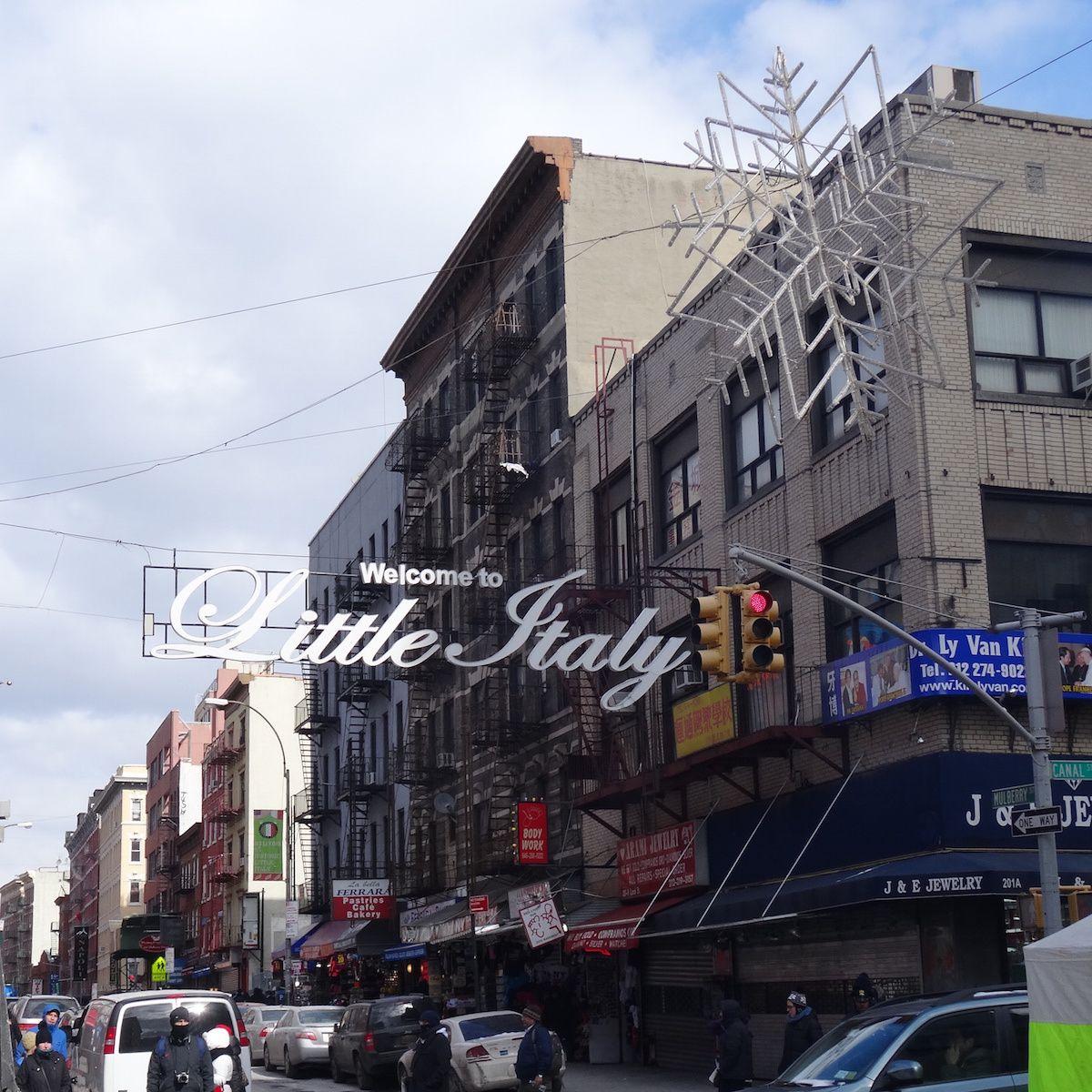 Mullberry street, à la frontière entre Chinatown et Little Italy