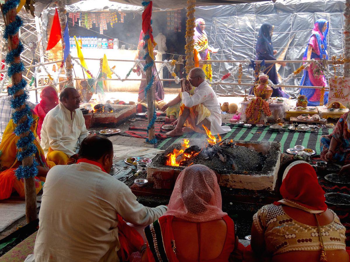 Cérémonie dédiée à Rama