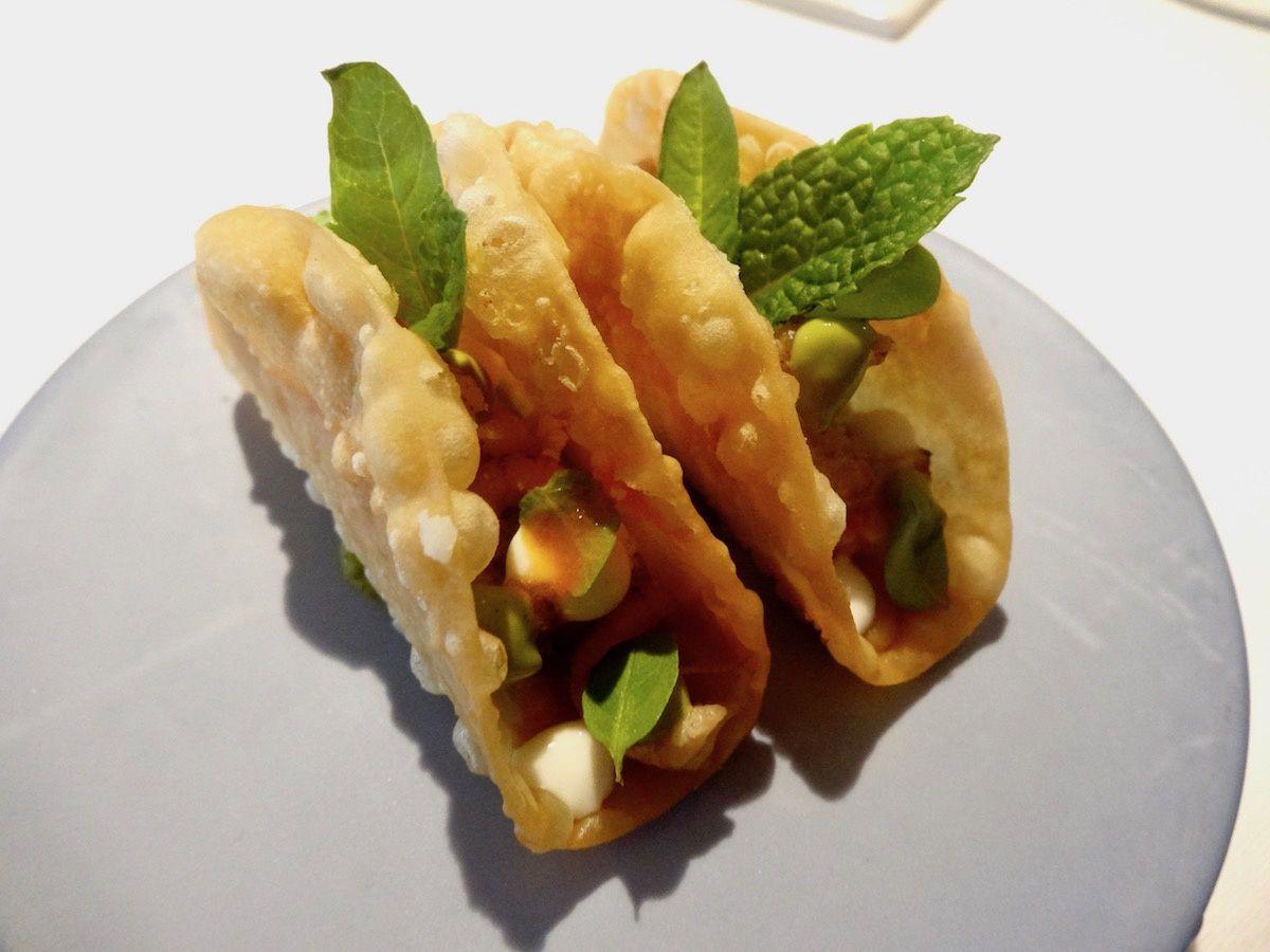 Tacos fourrés aux crevettes