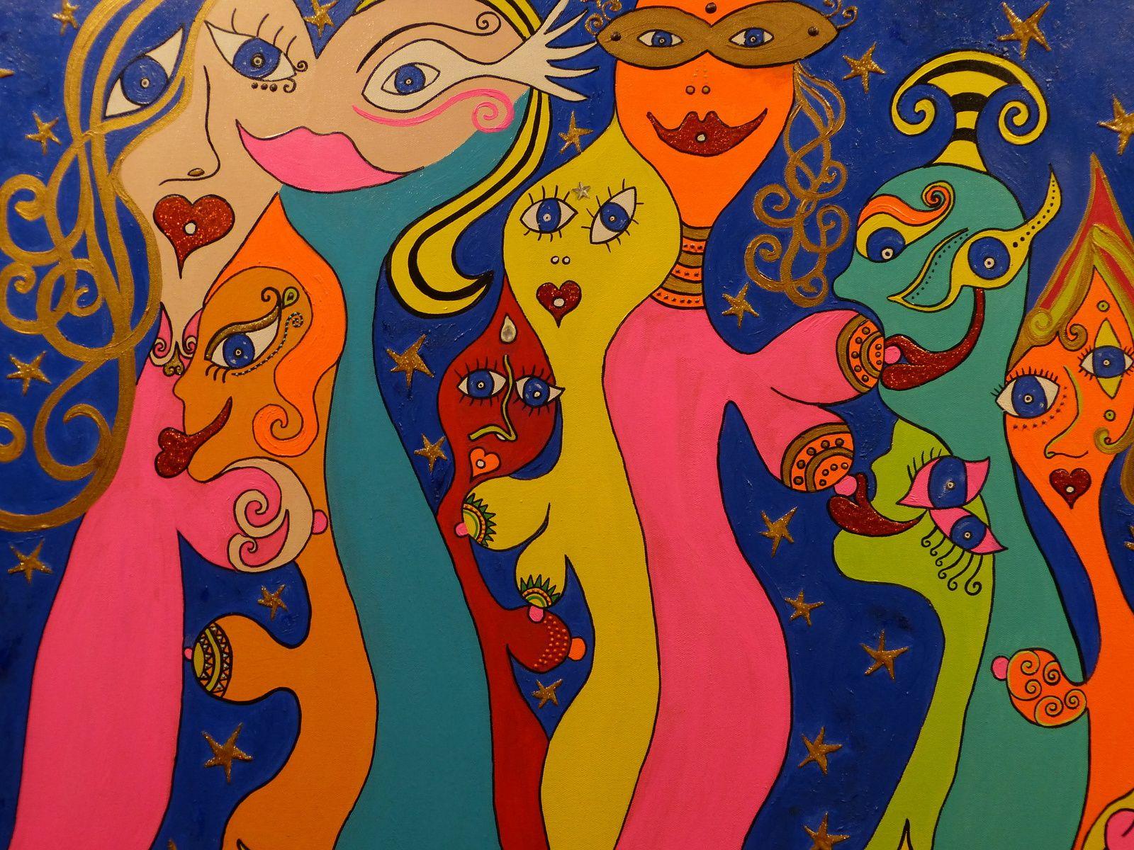L'art et la culture sont plus que jamais indispensables.....Merci à France Thalie pour son invitation à ce salon . On la voit ici, sur la dernière photo, à côté d'une de ses oeuvres.....Bises.