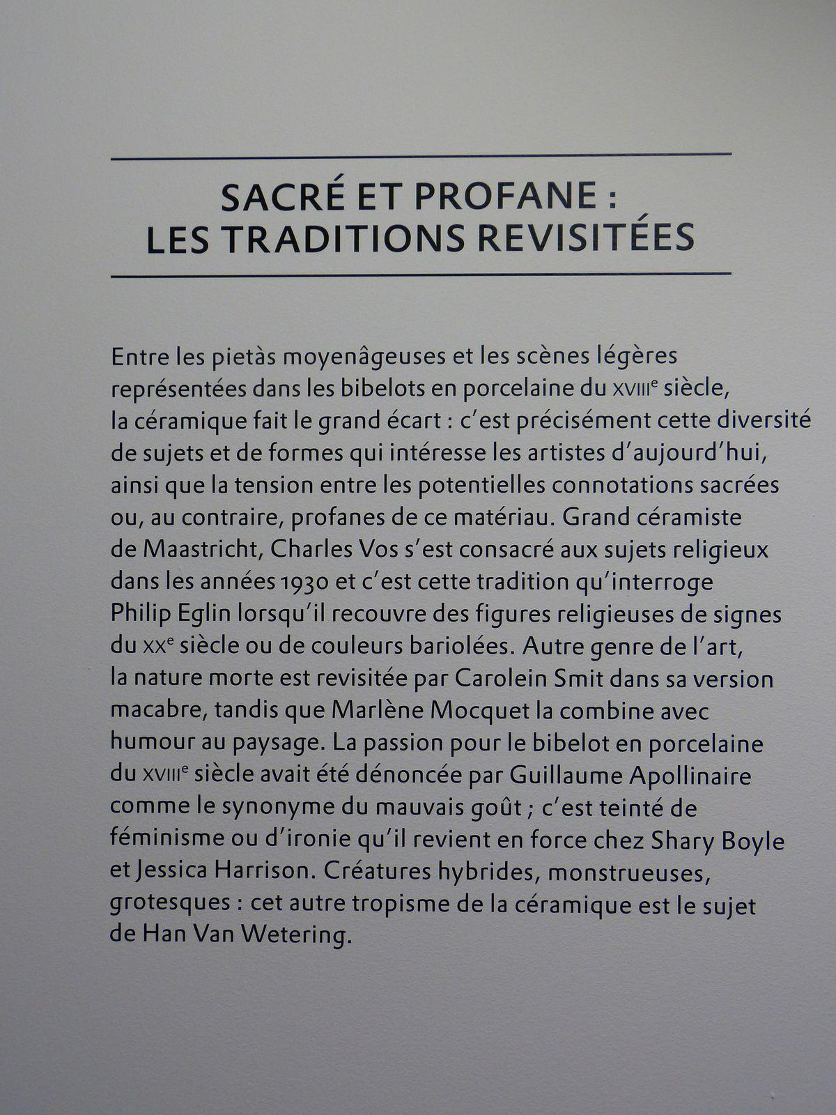 extraordinaire exposition d'oeuvres céramiques à La Maison Rouge ( Paris 12) ou se cotoient, couleurs, matières, humour et imaginaire....