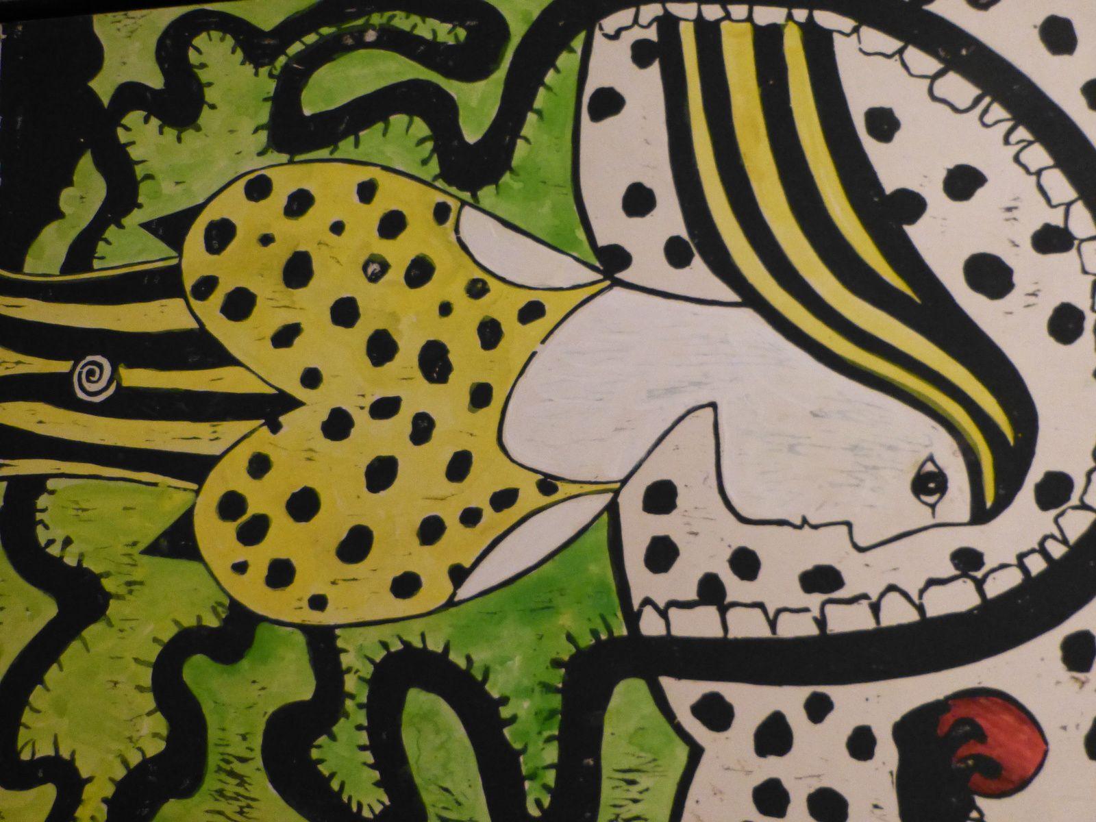 """L'univers de Joseph K. est riche et divers....il a vécu aux states et l'influence """"amérindien"""" est patente.Connu mondialement, il a une galerie à NY, fait des conférences mais revient toujours à son atelier parisien du Montparnasse ,au 58 rue Didot 75014, toujours ouvert (quand il est présent) à tous et ou la diversité et la force de ses oeuvres n'ont  d'égales que sa convivialité...."""