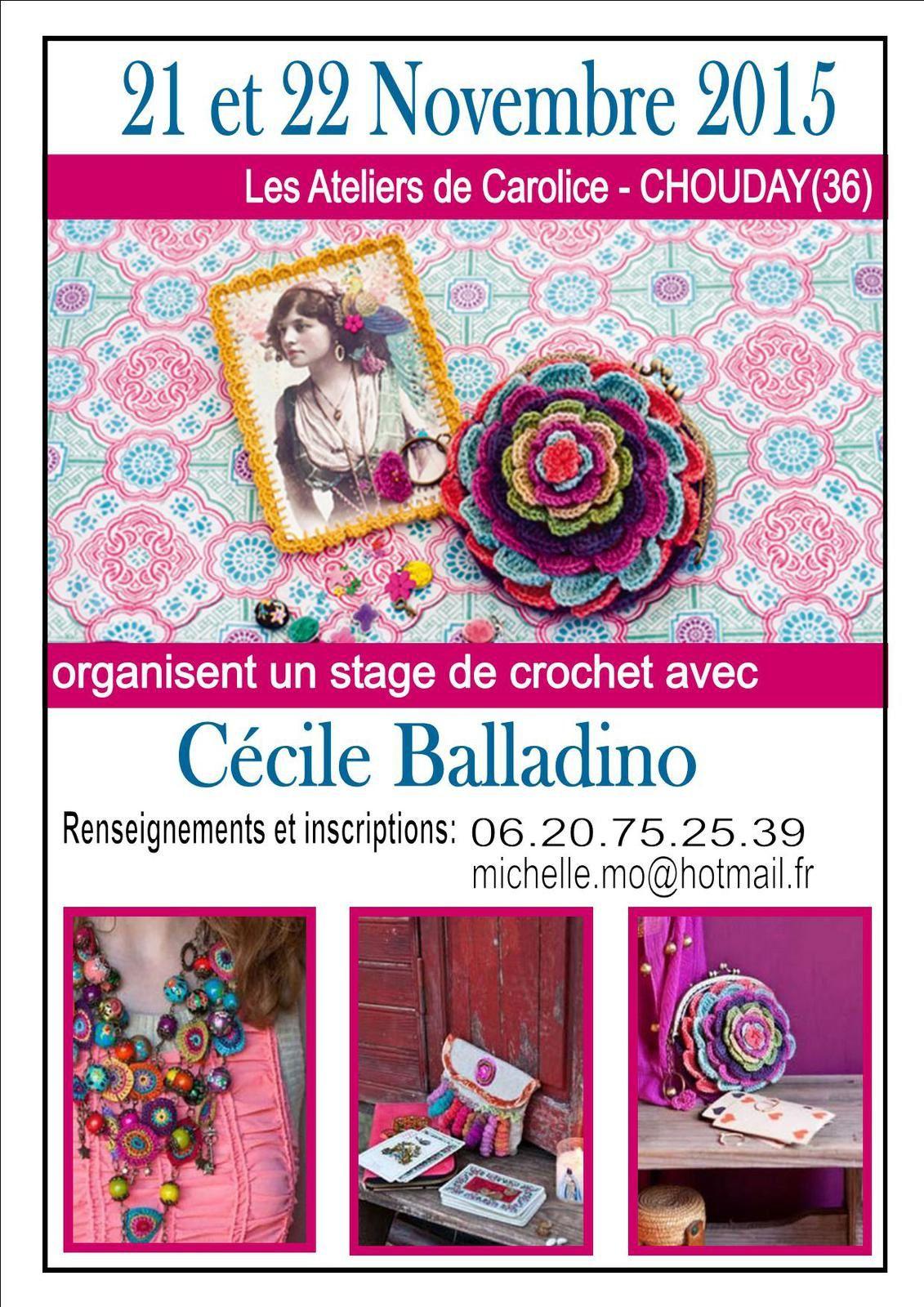 Mais aussi un stage de crochet avec Cécile Balladino