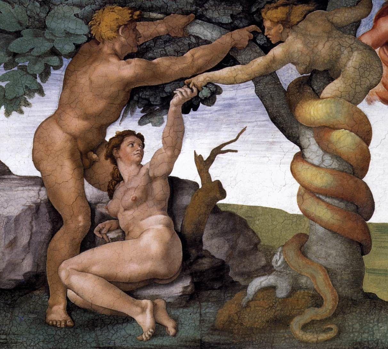 Adam et Ève chassés su jardin d'Eden &#x3B; début du Chaos
