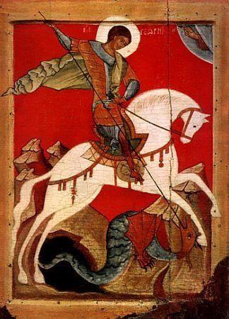 C'est Saint Marc l'évangeliste Un des cavaliers