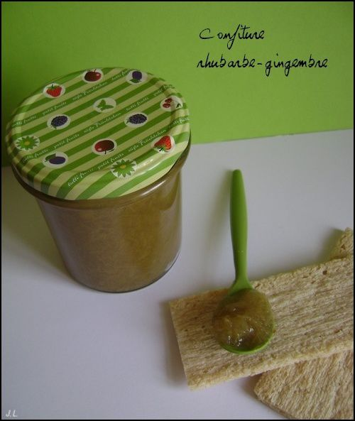 Confiture rhubarbe-gingembre