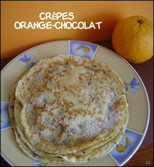 Crêpes orange-chocolat