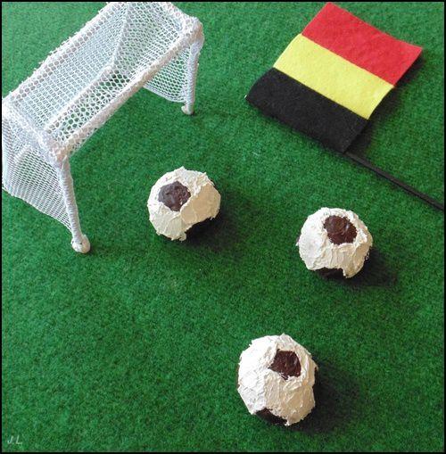 Cupcakes ballon de football