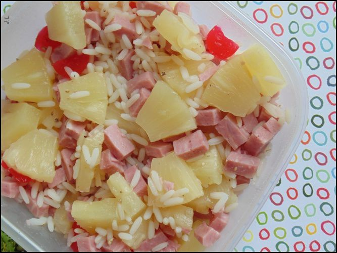 Salade de riz aux fruits