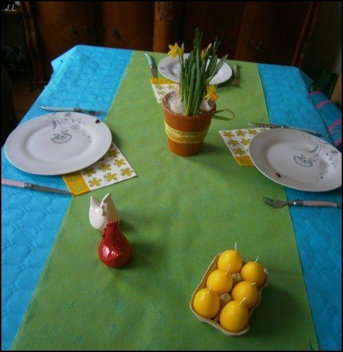 D coration de table pour p ques une toqu e en cuisine for Decoration pour paques