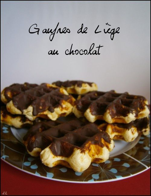 Gaufres de Liège au chocolat