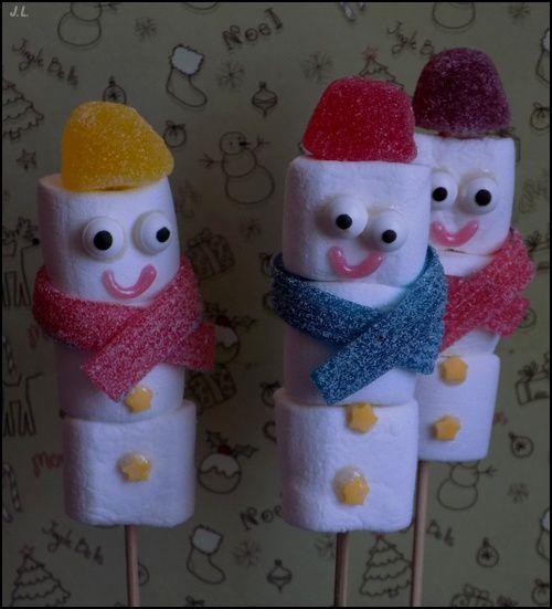 Bonhommes de neige Chamallow