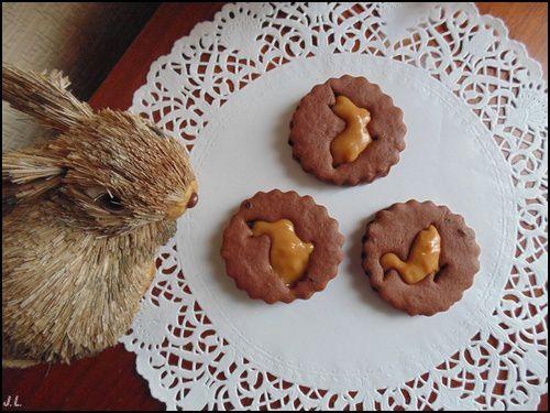 Biscuits au chocolat et confiture de lait
