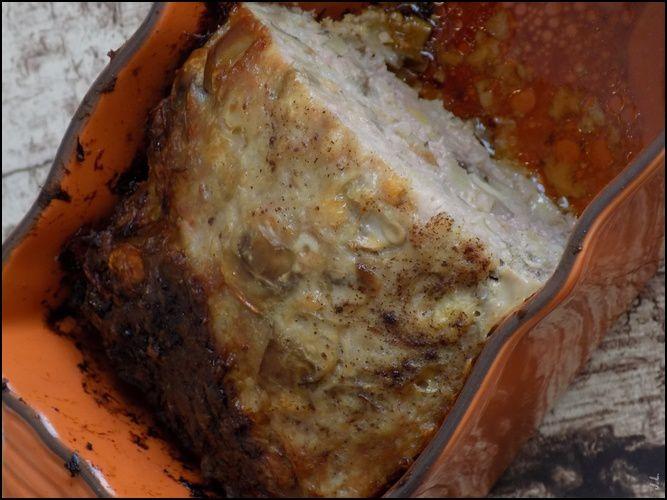 Pain de viande aux champignons