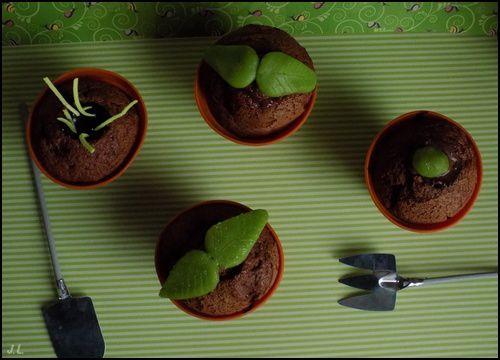 Cupcakes pot de fleur