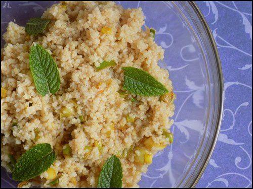 Salade de semoule menthe-oignons