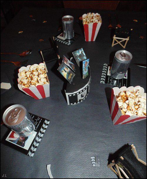 Déco de table cinéma