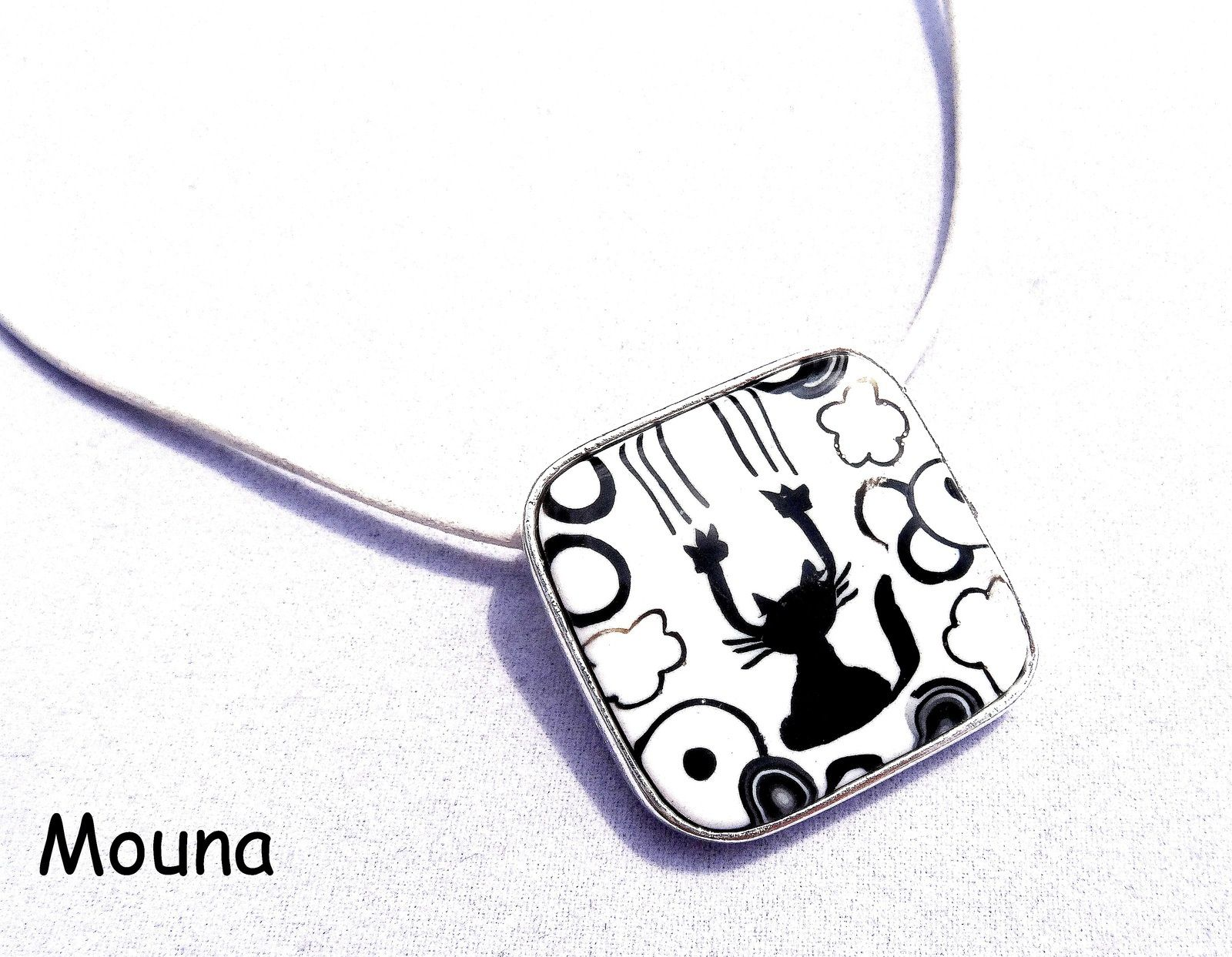 oO° Pendentif &quot&#x3B;Chat griffe&quot&#x3B; °Oo