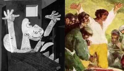Guernica et El très de mayo, image de comparaison pour compléter votre fiche HDA