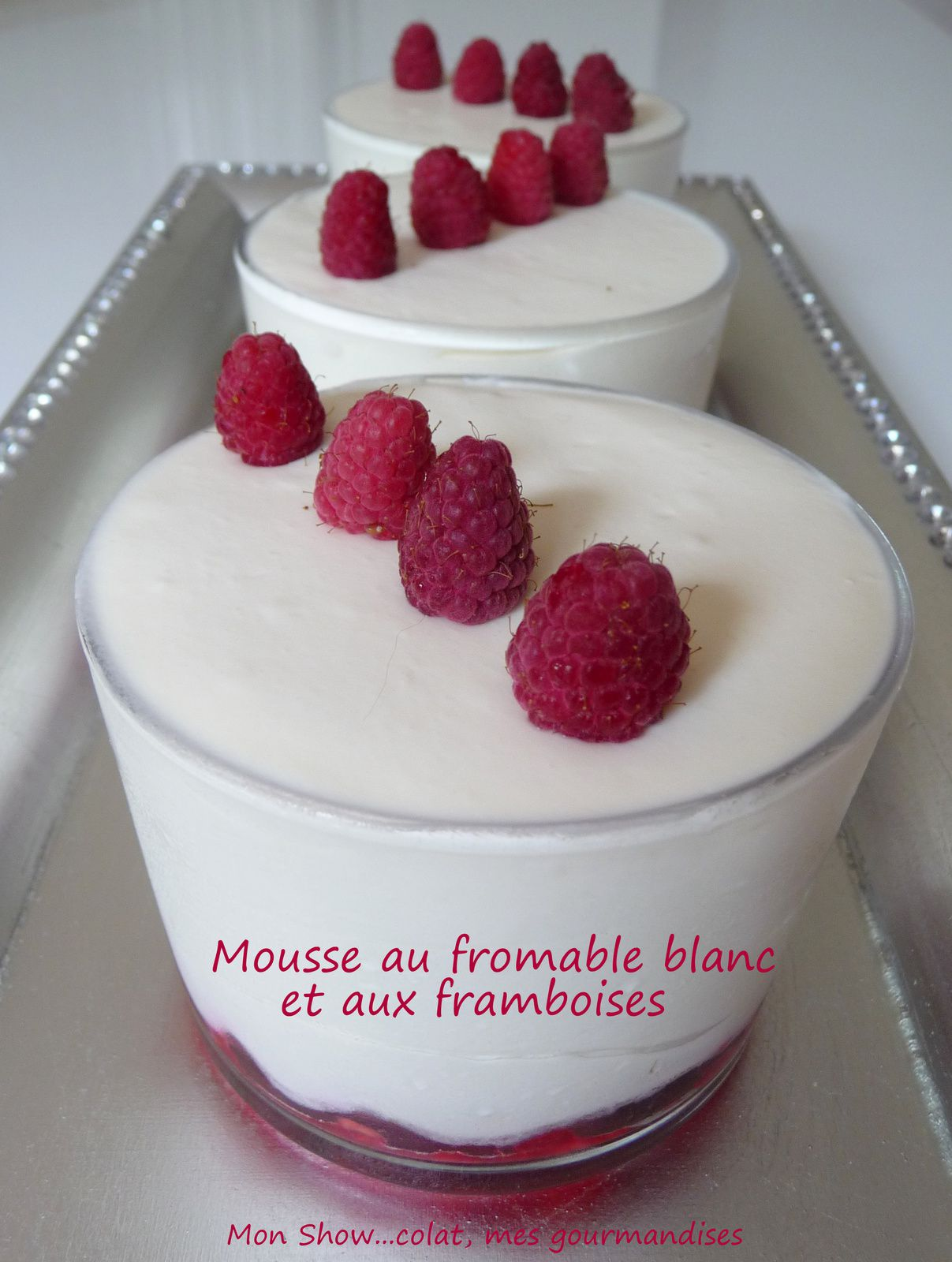 mousse au fromage blanc et framboises sans oeufs mon show colat mes gourmandises. Black Bedroom Furniture Sets. Home Design Ideas
