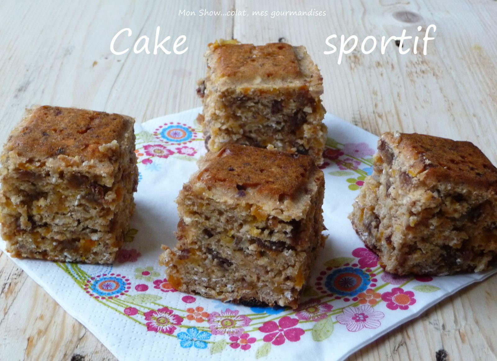 Cake sportif pour trail et ultra trail