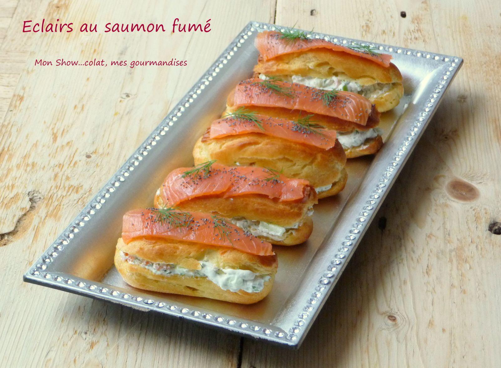 Eclairs au saumon fumé et Granny Smith