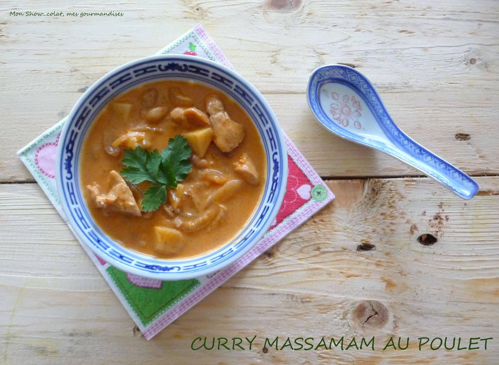 Curry Massaman au Poulet (mussamun soup)