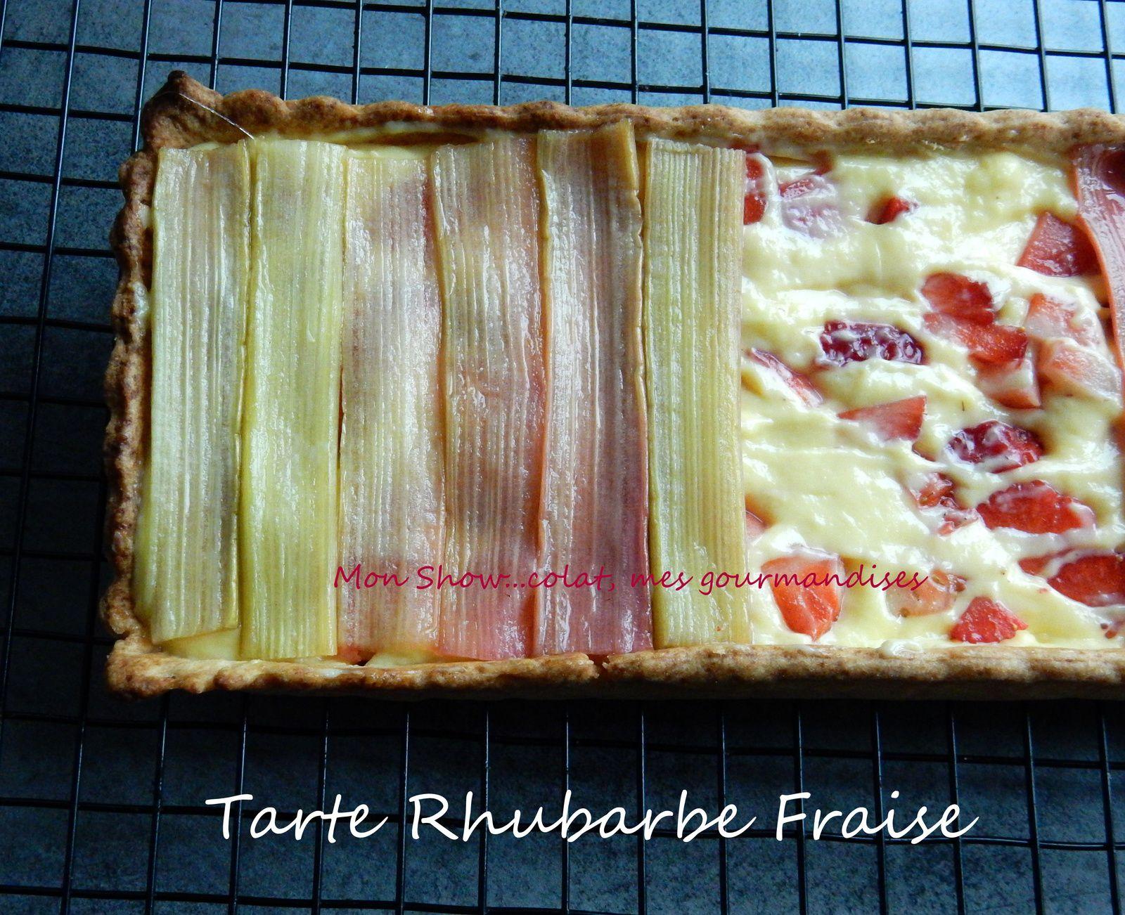 Tarte Rhubarbe et Fraise