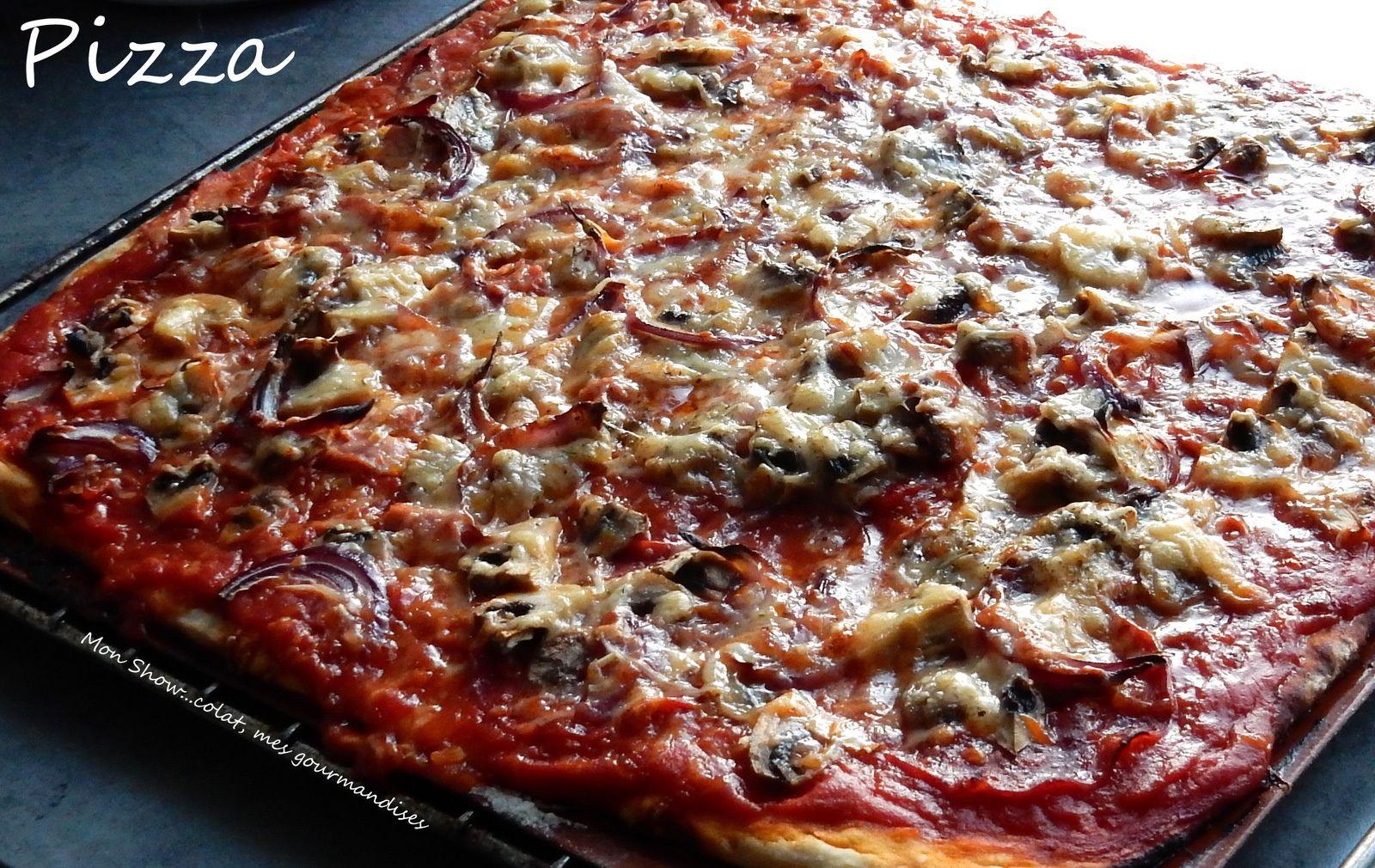 Pizza Jambon Chorizo Champignons Oignons rouges et Comté !
