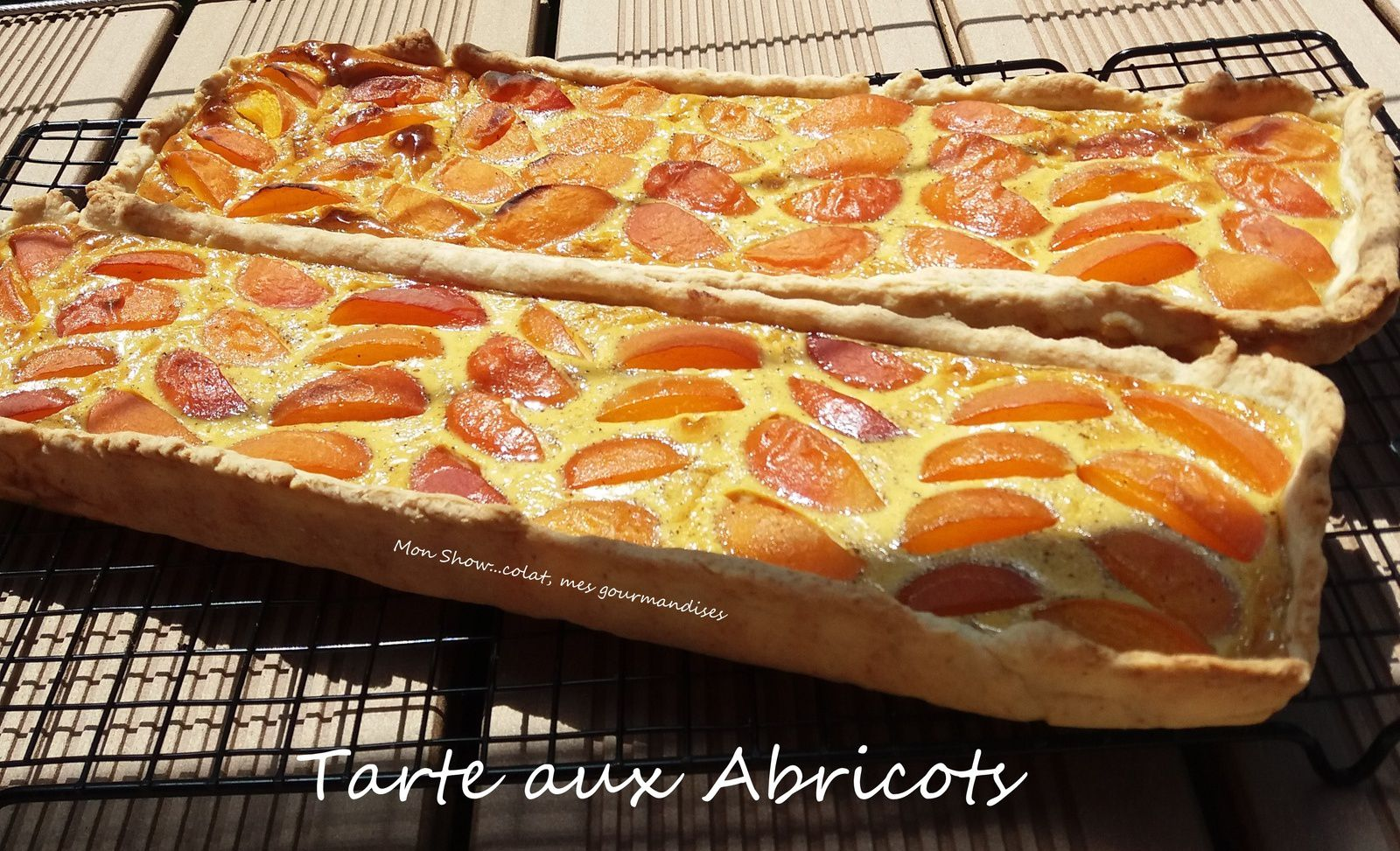 tarte aux abricots recette facile mon show colat mes gourmandises. Black Bedroom Furniture Sets. Home Design Ideas