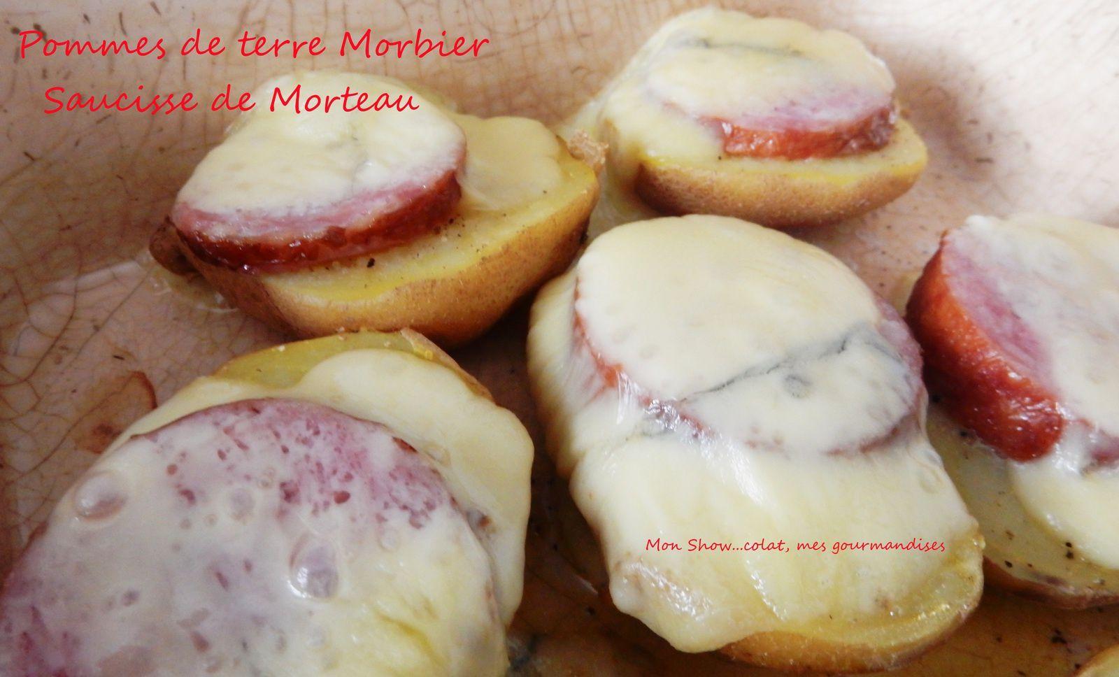 Pommes de terre et Saucisse de Morteau au four gratinées au Morbier