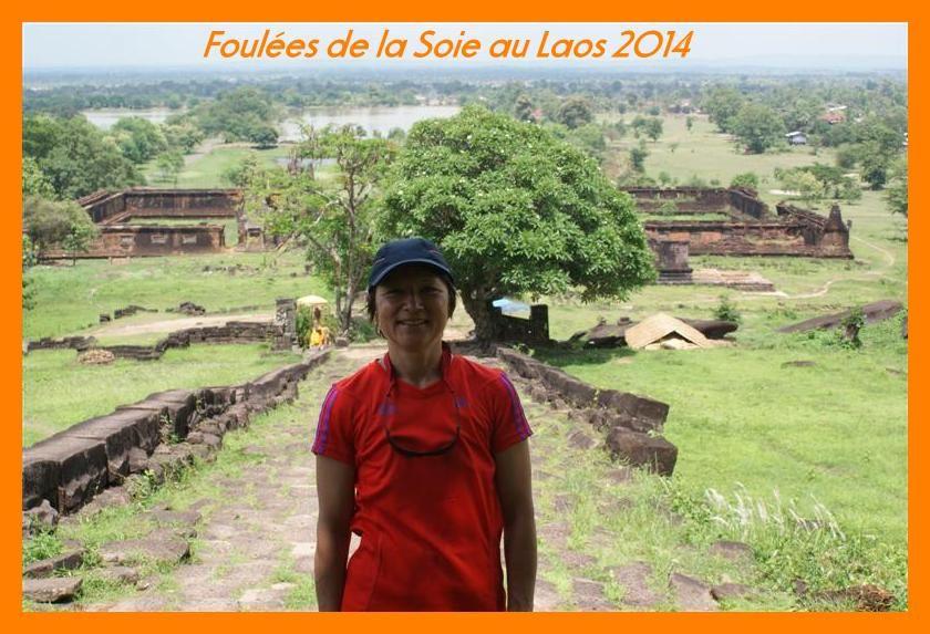 Foulées du Laos 2014. Photos de l'arrivée au temple Vat Phou.