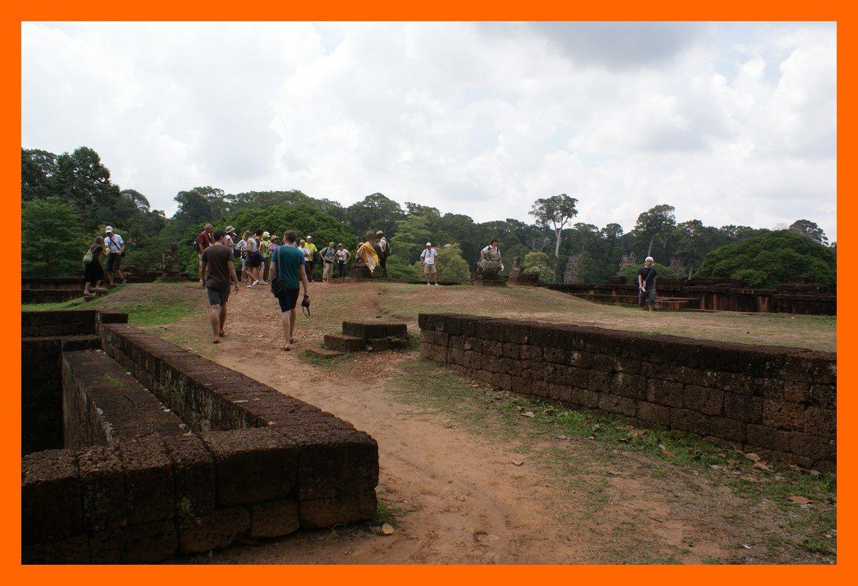 Angkor Thom. La Terrasse du Roi Lépreux