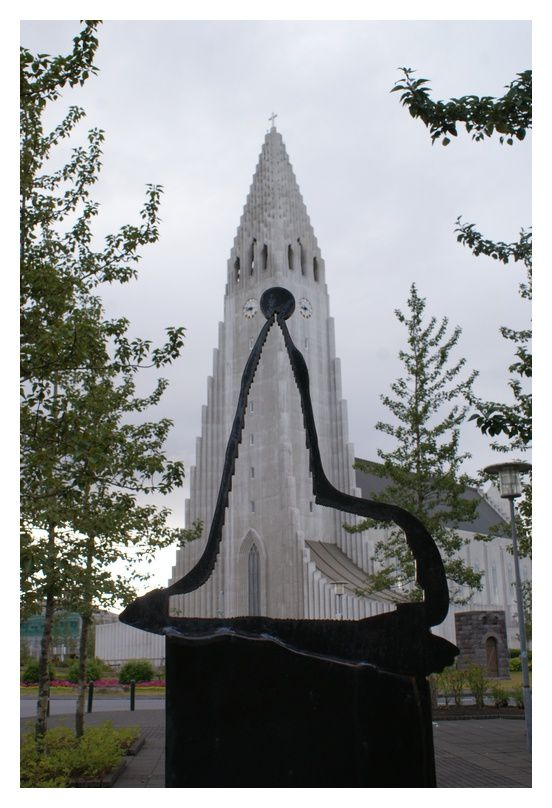 Eglise luthérienne de Reykjavik. Hallgrimskirkja.