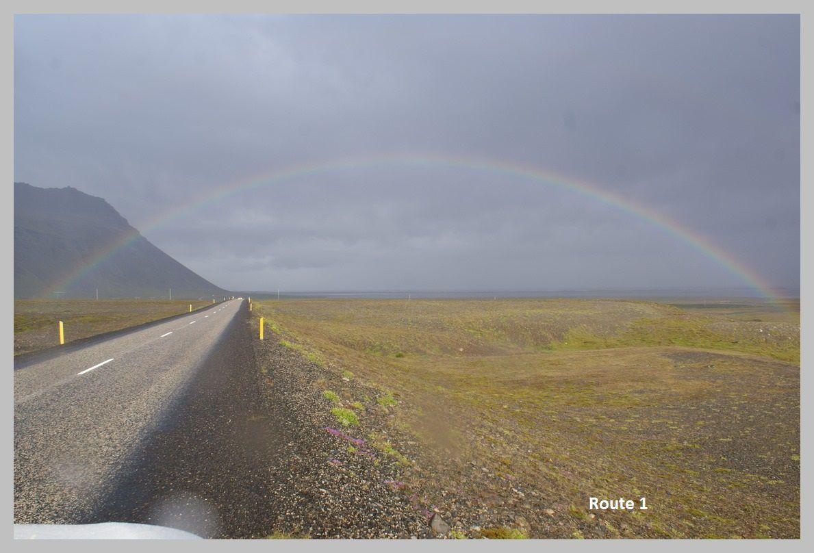 Les routes et paysages d'Islande. Août 2015