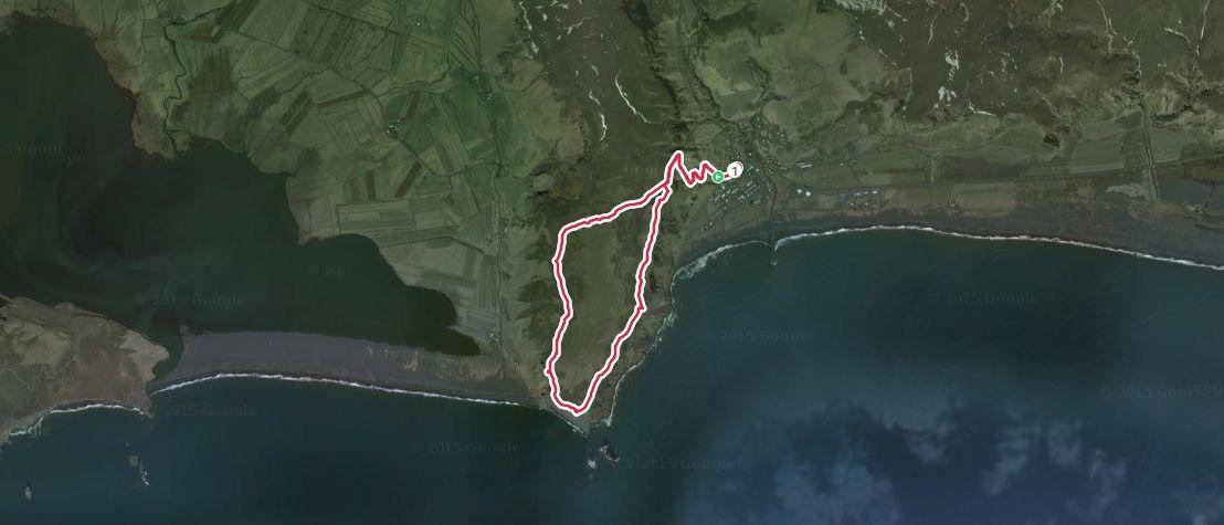 Trace GPS  D+185m  1h46  6,8km