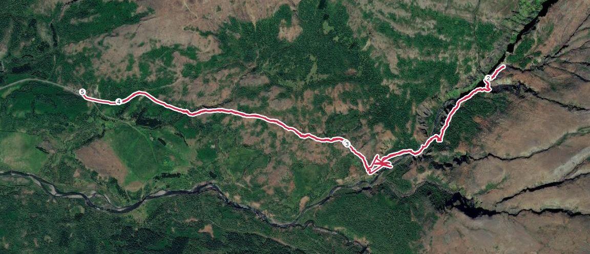 Ma trace GPS. 1h35 et 4,2 km. D+145m
