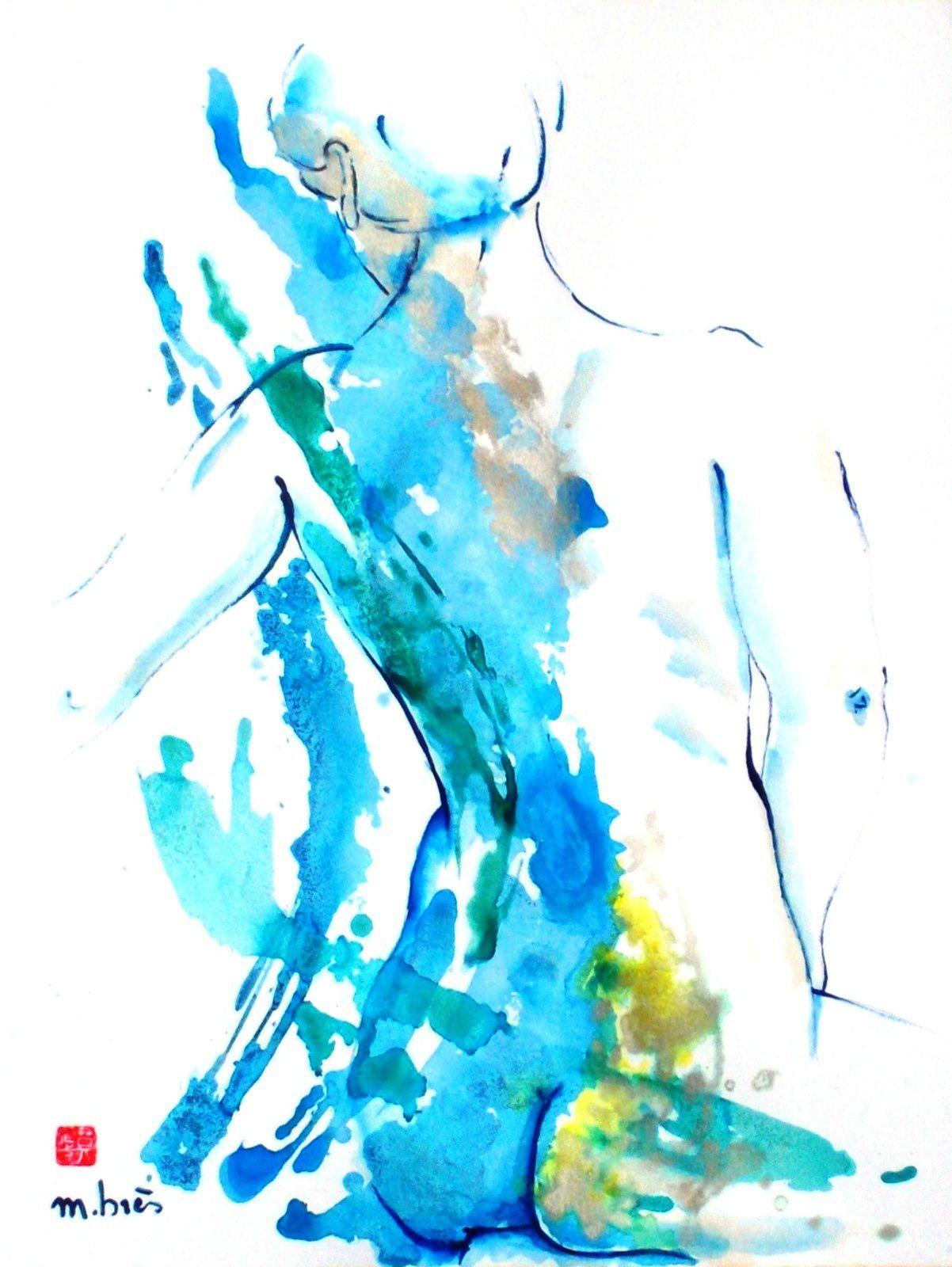 SONGEUSE - Encres sur papier - 50 x 65 cm