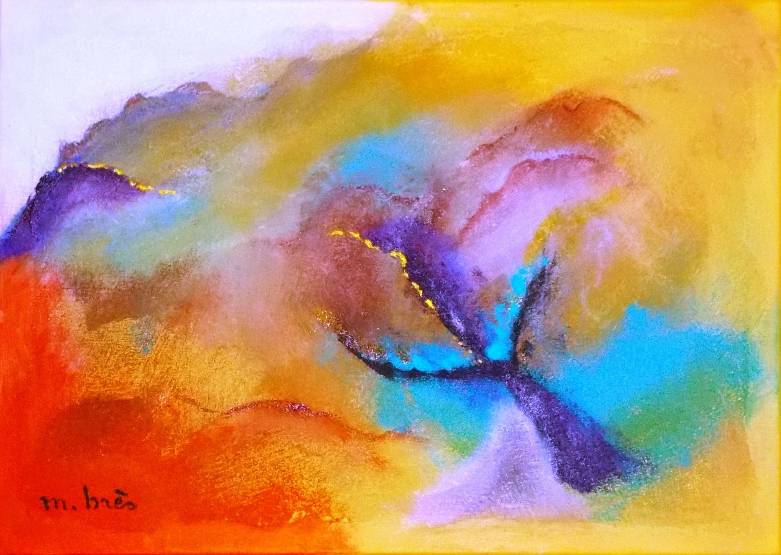 Art abstrait - Art abstrait- 50 x 70 cm
